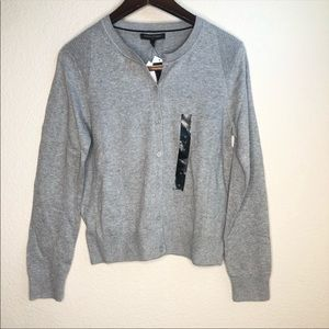 Banana Republic gray button down fitted cardigan